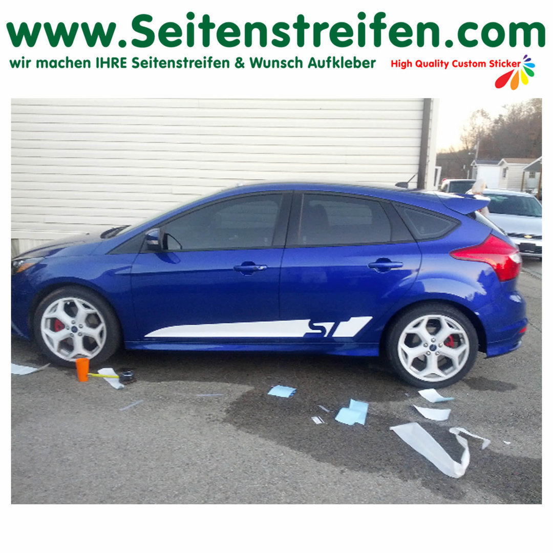 Ford Focus ST Custom - set completo de pegatinas laterales  N°:1056