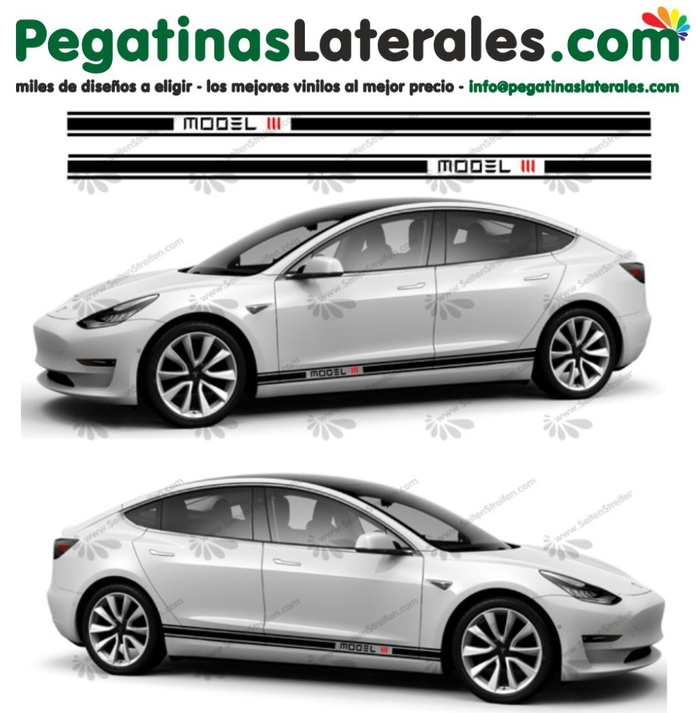 Tesla Model III - set de pegatinas laterales N°:U 5025