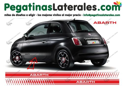 Fiat 500 - ABARTH EVO -  set de pegatinas laterales N° 1491