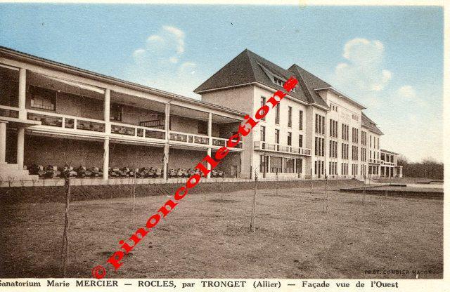 vue de la faaade ouest de. Plain Ouest ROCLES 03  Sanatorium Marie MERCIER Faade Vue De Lu0027ouest To La Faaade Ouest T