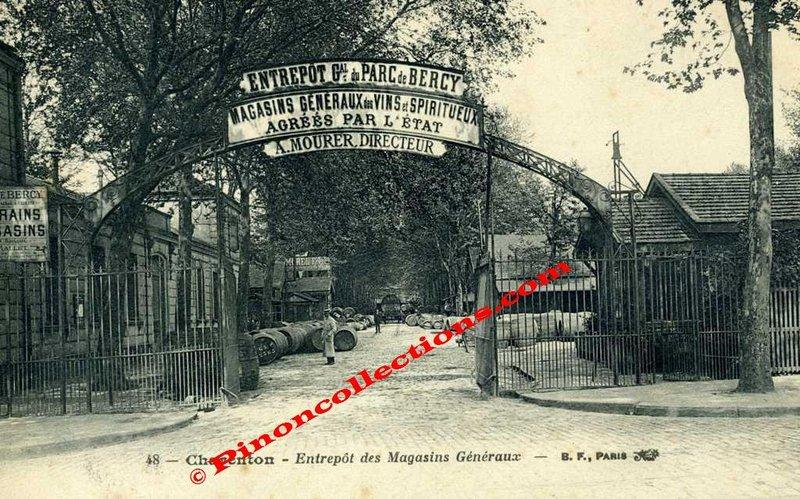 Charenton Le Pont 94 Entrepot Du Parc De Bercy Magasins Generaux Des Vins Et Spiritueux