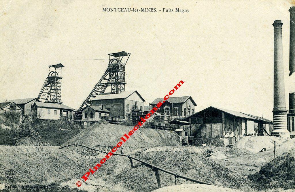 montceau les mines 71 puits magny mine de charbon tr s beau plan g n ral des. Black Bedroom Furniture Sets. Home Design Ideas