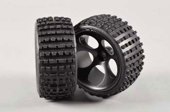 FG - OR Buggy tires M wide glued black [60210/06]
