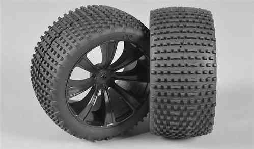 FG - Truggy Pin 185 - M / OR tires, glued, black [67207/05]