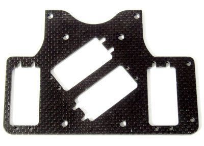 CFK/Carbon RC-plate SX-4, 2 small steering servos Push/Pull
