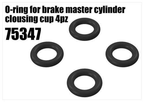 RS5 - Brake O-ring for master cylinder clousing cup, 4pcs [75347]