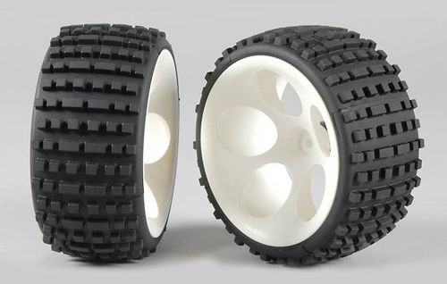 FG - OR Buggy tires M wide glued white [60210/05]