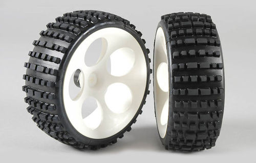 FG - OR Buggy tires M narrow glued white [60215/05]