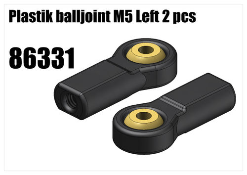 RS5 - Plastik balljoint M5 left 2pcs [86331]
