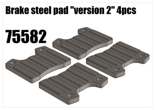 "RS5 - Brake steel pad ""version 2"", 4pcs [75582]"