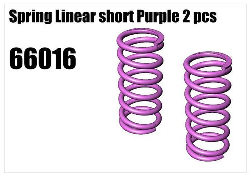 RS5 - Spring Linear short Purple 2pcs [66016]