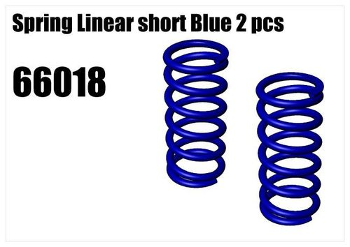 RS5 - Spring Linear short Blue 2pcs [66018]
