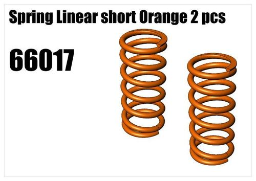 RS5 - Spring Linear short Orange 2pcs [66017]