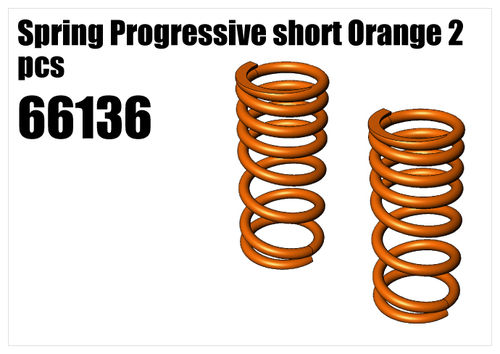 Spring Progressive short Orange 2pcs [66136]