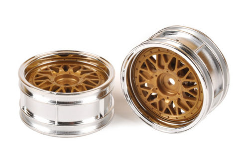 Tamiya - 2-Piece Golded Mesh Wheels [50548]