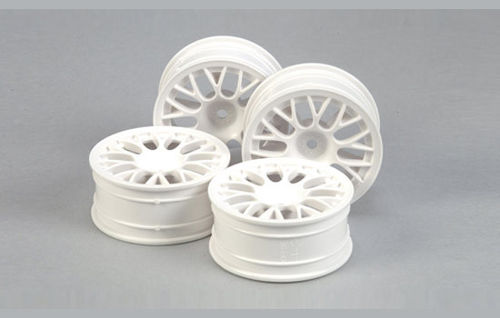Tamiya - Medium-Narrow White Mesh Wheels (Offset +2) [53468]
