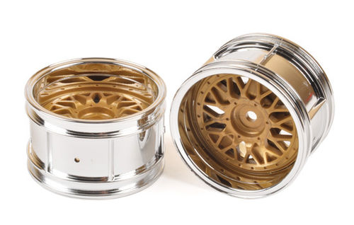 Tamiya - 2-Piece Golded Mesh Wheels [50549]