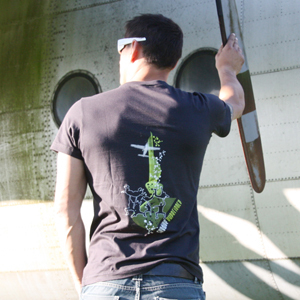 "T-SHIRT ""SKYDIVE EXPERIENCE"" GRIS"
