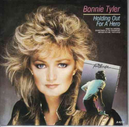 VINYL45T bonnie tyler holding out a hero 1984