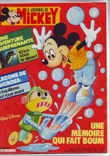 BD le journal de Mickey n°1731 1985