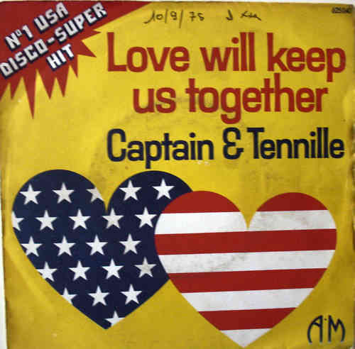 VINYL45T captain and tennille love will keep us together 1975