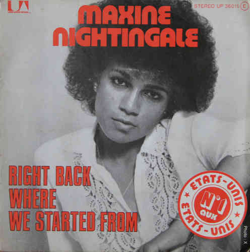 VINYL45T maxime nightingale right back where started from 1975