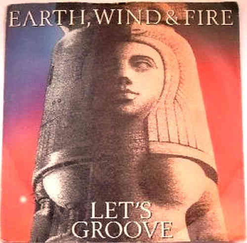 VINYL45T earth wind and fire let's groove 1981