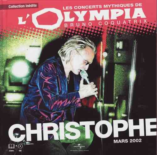 CD Christophe l'olympia mars 2002 livre cd