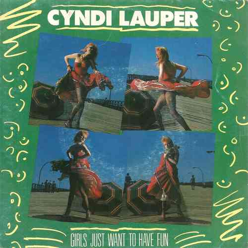 VINYL45T cyndi lauper girls just want to have fun 1983