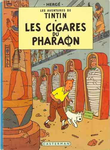 BD tintin les cigares du pharaon 1966 collection