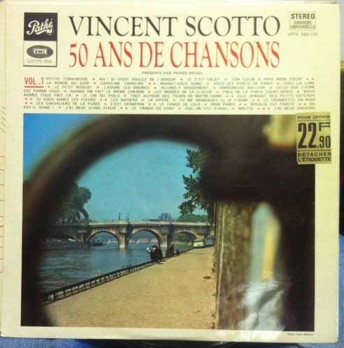 VINYL33T Vincent scotto 50 ans de chansons 1971