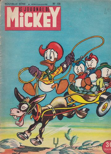 BD le journal de Mickey 1955 N°156