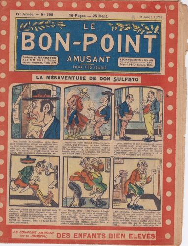 BD hebdomadaire le bon point N° 558 1923