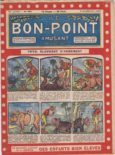 BD hebdomadaire le bon point N° 562 1923