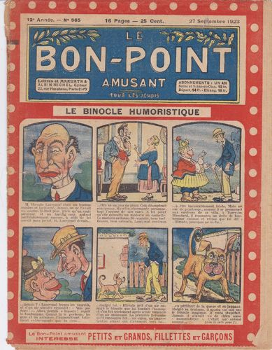 BD hebdomadaire le bon point N° 565 1923