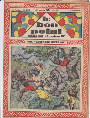 BD hebdomadaire le bon point N° 1092 1933
