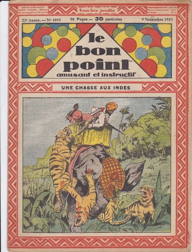 BD hebdomadaire le bon point N° 1093 1933