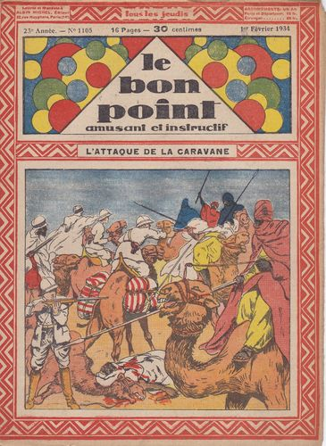 BD hebdomadaire le bon point N° 1105 1934