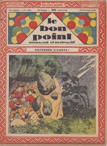 BD hebdomadaire le bon point N° 1106 1934