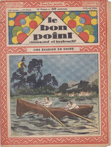 BD hebdomadaire le bon point N° 1116 1934