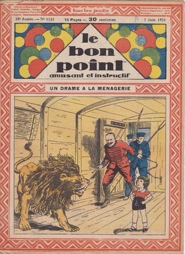 BD hebdomadaire le bon point N° 1123 1934