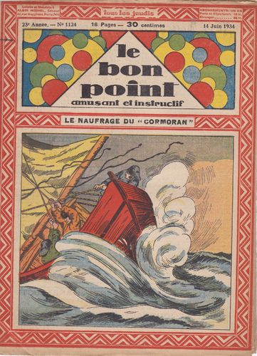 BD hebdomadaire le bon point N° 1124 1934