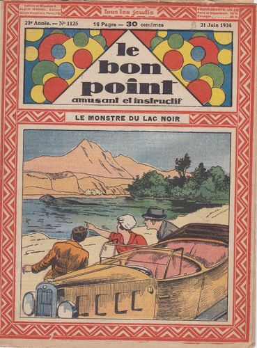 BD hebdomadaire le bon point N° 1125 1934