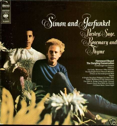 VINYL33T Simon end garfunkel parsley sage rosemary and thyme 1979 BIEM