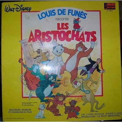 VINYL 33T louis de funes les aristochats  disney records 1982