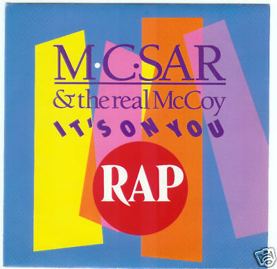 VINYL 45 T mc sar & thereal mc coy it's on you 1990