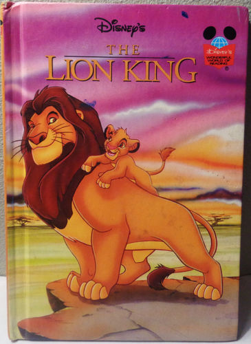LIVRE disney the lion king  disney's wonderful world of reading 1994