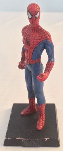 FIGURINE spiderman sur socle marvel acier (9 ctm)2005
