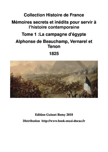 EBOOK  mémoires secrets tome 1 alphonse beauchamp 2018