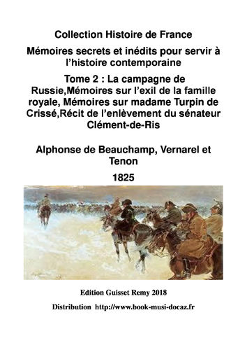 EBOOK  mémoires secrets tome 2 alphonse beauchamp 2018